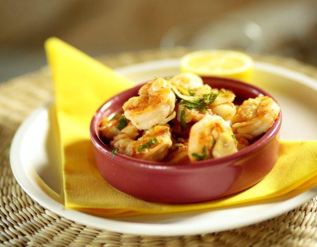 Krevety s česnekovým olejem Foto:
