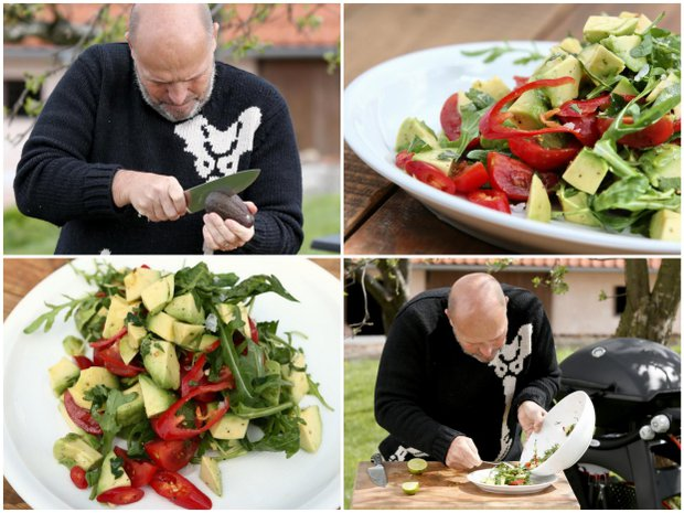 Salát z avokáda, rukoly a limety Foto: