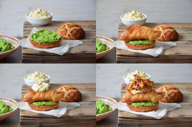Fish & chips burger 2 Foto: