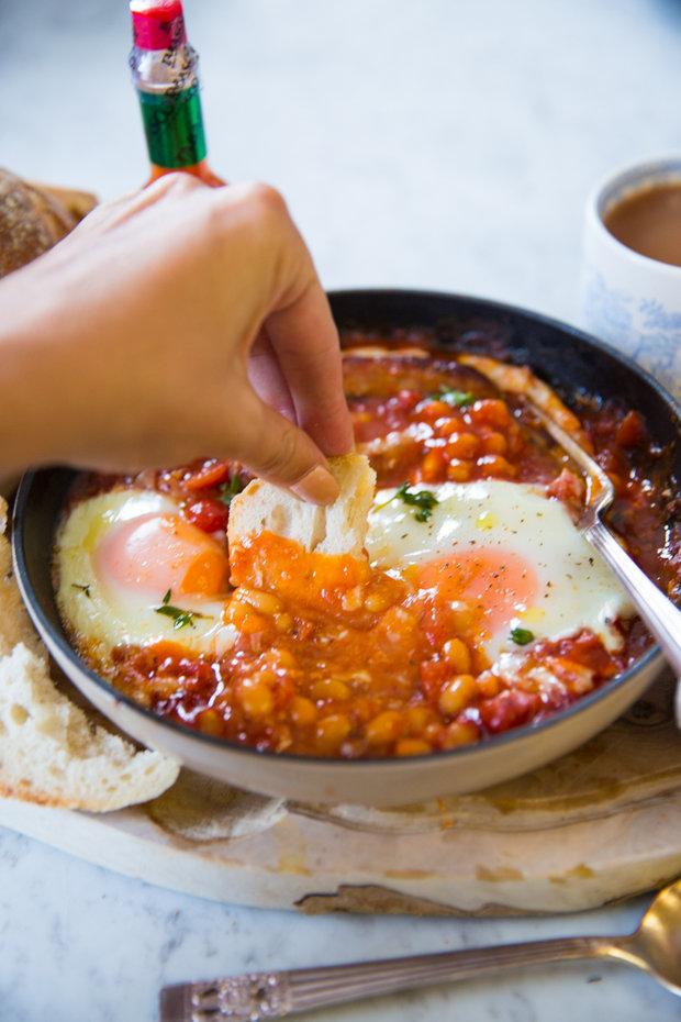 Anglická snídaně z jedné pánve 2 Foto: