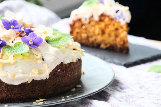 Mrkvovo-kokosový dort s tvarohovým krémem 2 Foto: