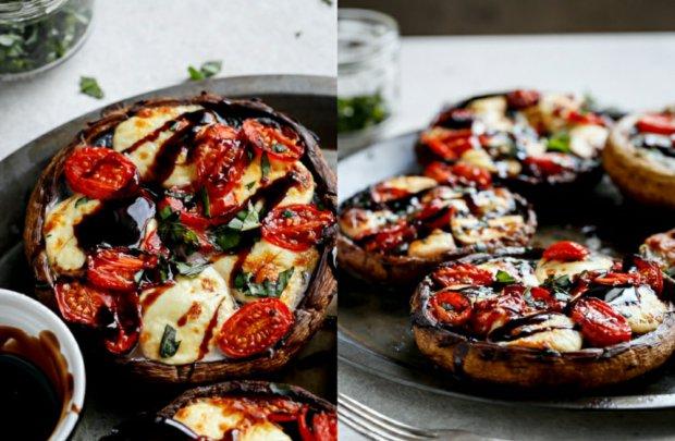 Plněné portobello houby ve stylu caprese  Foto: