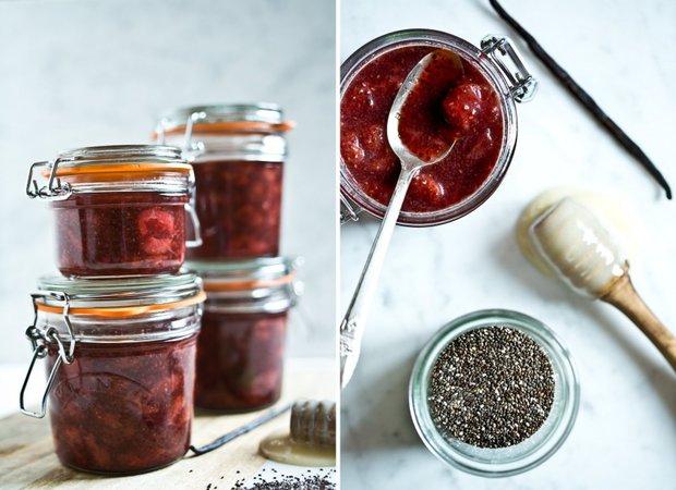 Jahodová marmeláda s chia semínky a vanilkou 2 Foto: