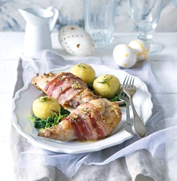 Pečený králík se slaninou  Foto: