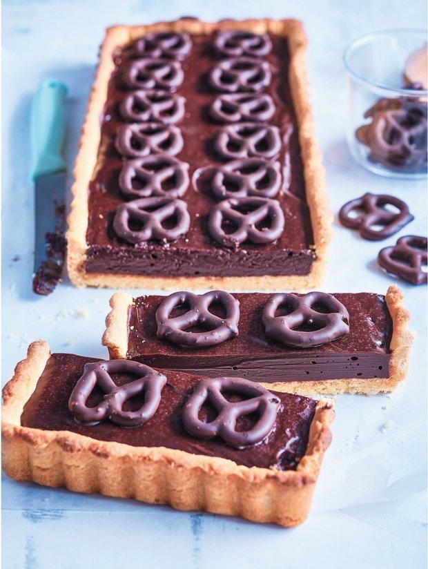 Čokoládový koláč se slanými preclíky  Foto: