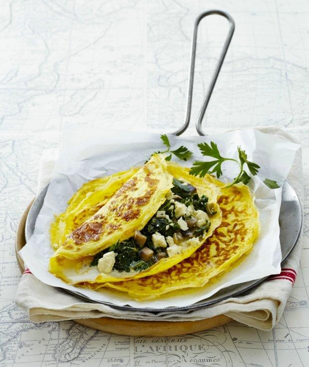 Omeleta se špenátem a fetou  Foto: