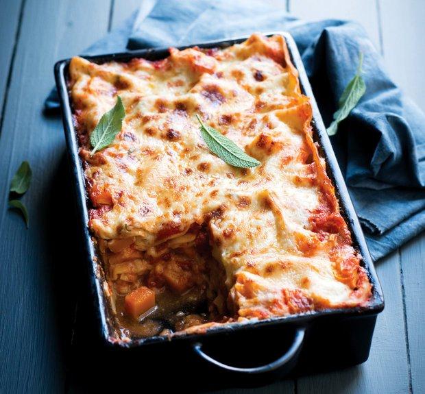 Lasagne s dýní a kuřecím masem  Foto: