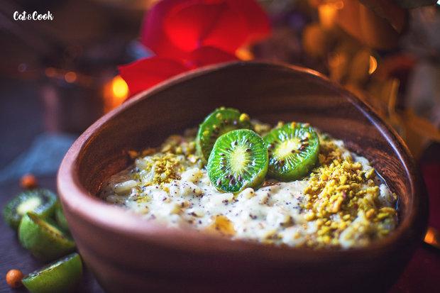 Mléčná rýže s mákem, ovocem a ořechy 2 Foto: