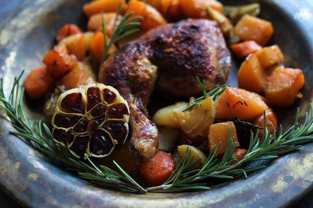 Kuře na zimní zelenině 3 Foto: