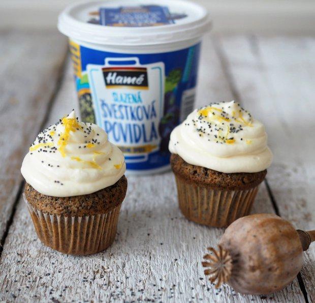 Makové cupcakes s citronovým krémem  Foto:
