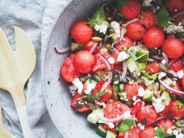 Melounový salát se sýrem Foto: