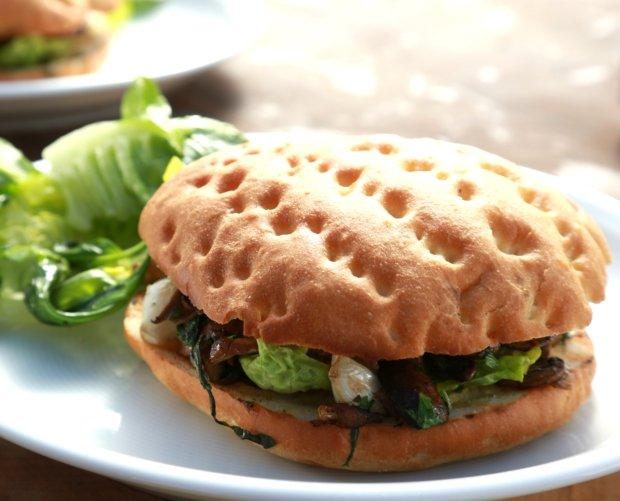 Houbový burger Foto: