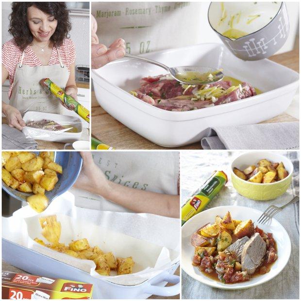 Jehněčí na rozmarýnu a pečené brambory  Foto: