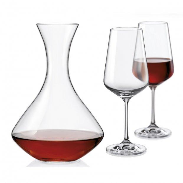 Sada sklenic a karafa - Sandra wine set, 3ks v setu, Crystalex, 293 Kč Foto: