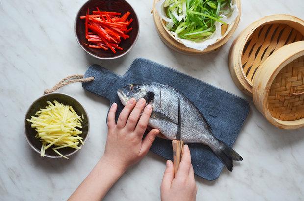 Ryba v páře po asijsku 2 Foto: