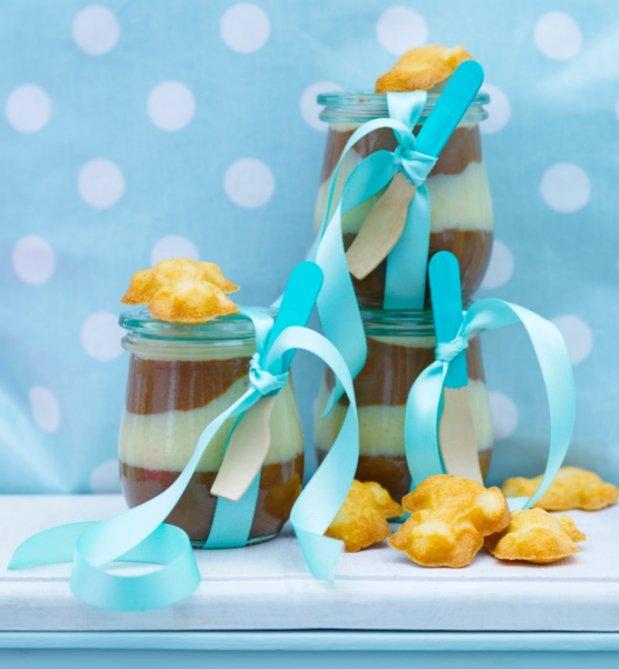 Dvoubarevná čokoládová pomazánka s lineckými žabkami  Foto: