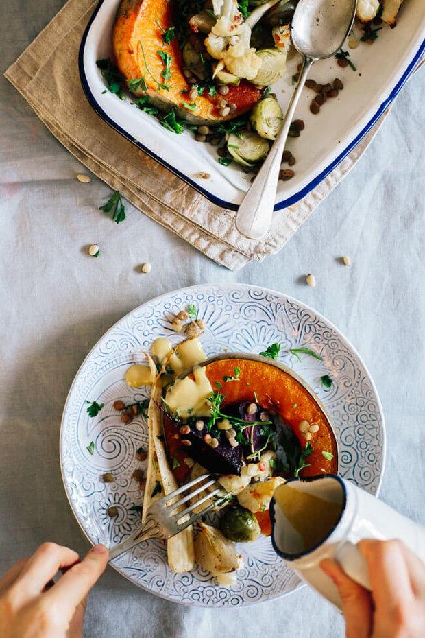 Pečená zelenina s křenovým dresinkem 2 Foto: