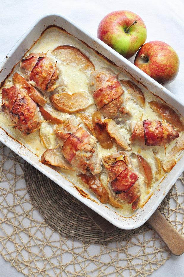 Vepřové závitky s jablky a křenem 2 Foto: