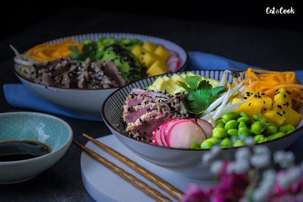 Tuna bowl – grilovaný tuňák se zeleninou 3 Foto: