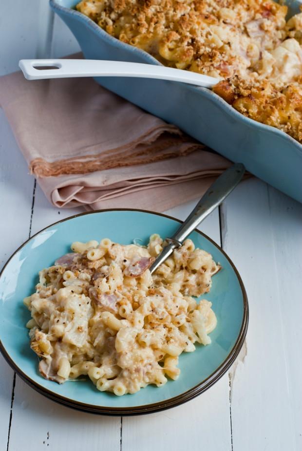 Makaróny se sýrem, slaninou a květákem  Foto: Sweet pixel blog