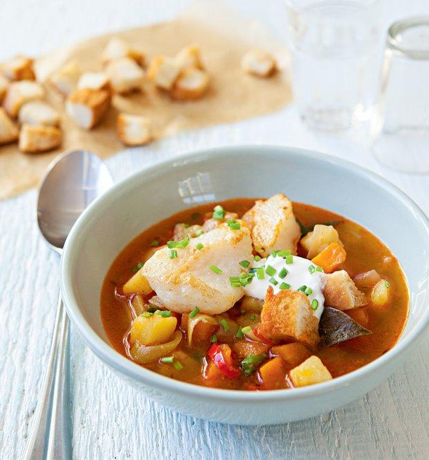 Rybí polévka s ouzem  Foto: