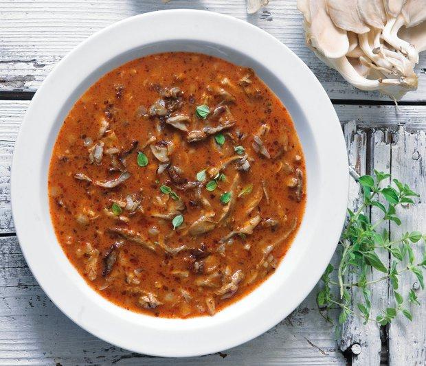 Dršťková polévka z hlívy  Foto: