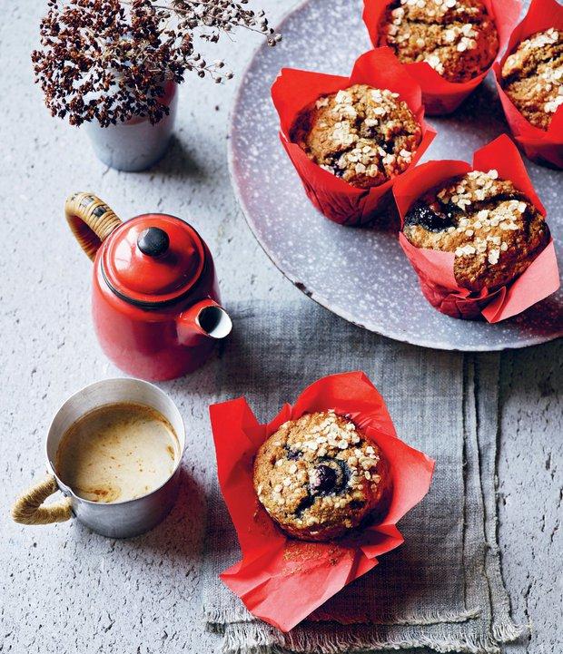 Borůvkové muffiny ze špaldové mouky  Foto: