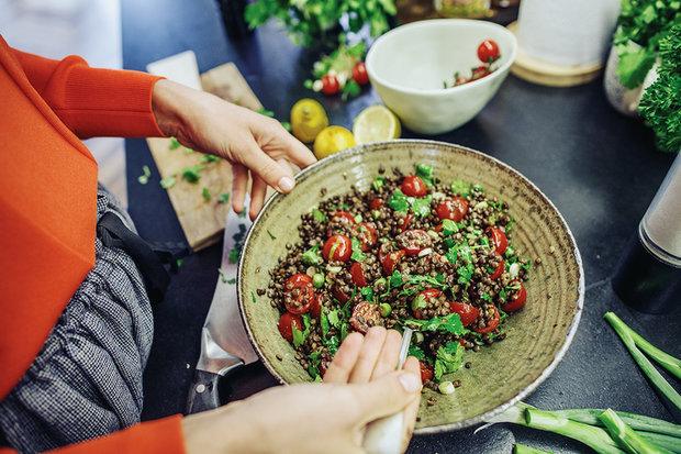 Čočkový salát s rajčaty a koriandrem 3 Foto: