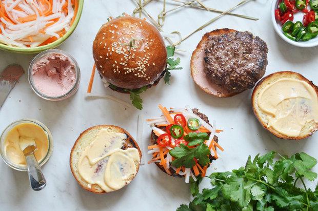 Banh mi burger Foto: