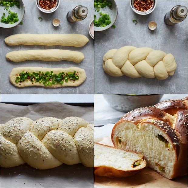 Pikantní chléb s jarní cibulkou 2 Foto: