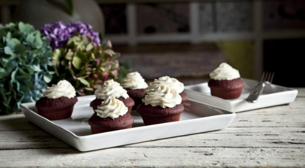 Red velvet muffiny zčervené řepy Foto: Kitchenette.cz