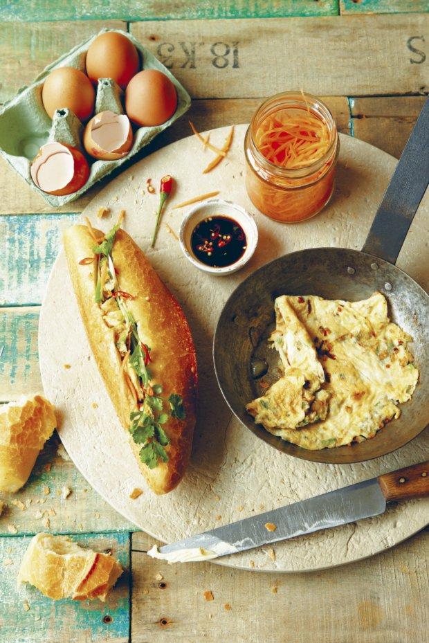 Vietnamská bageta s omeletou  Foto: