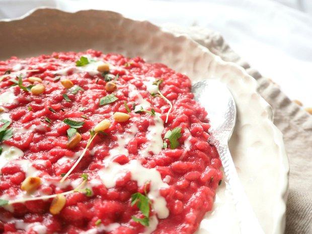 Řepové risotto s gorgonzolovou omáčkou  Foto: