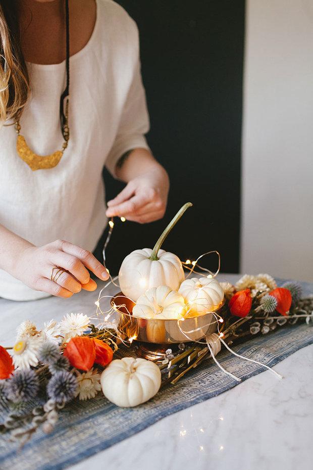 Podzimní dekorace oživí váš stůl. Foto: