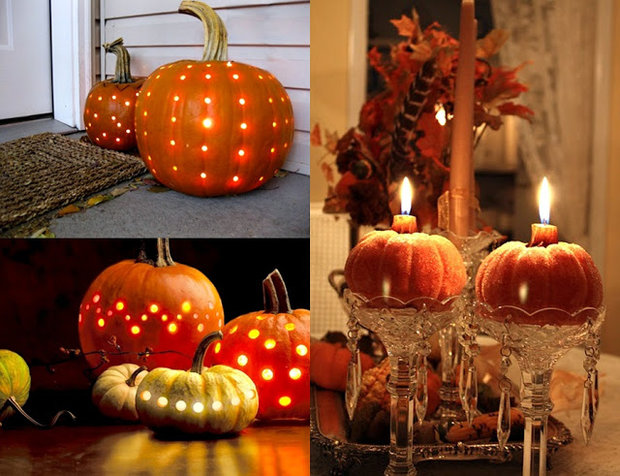 use a drill to make a polka dotted carved pumpkin Foto:
