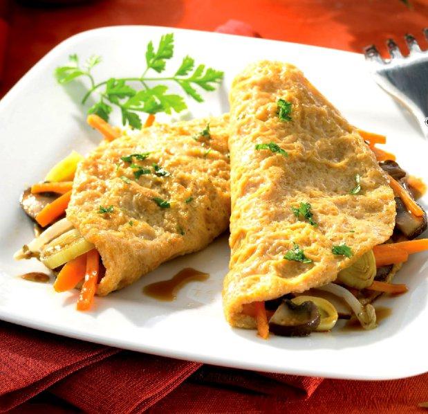 Pestré mini omelety  Foto: