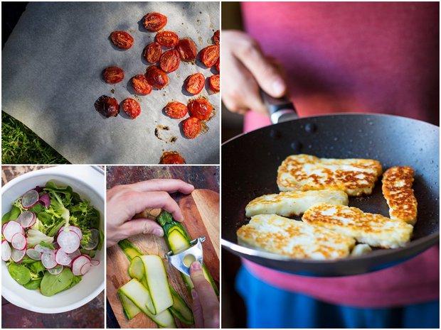 Salát s halloumi a pečenými rajčaty 2 Foto: