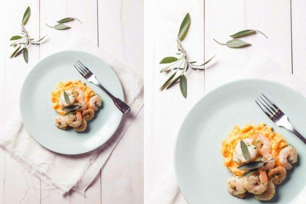 Rychlé krevety s bramborovo-batátovým pyré Foto: