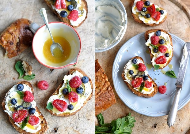 Ovocný chlebíček s medovou omáčkou Foto: