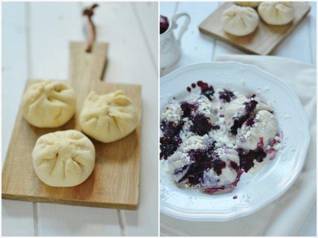 Kynuté borůvkové knedlíky a žahour  Foto: