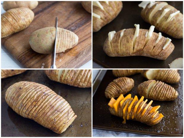 Plněné brambory Hasselback 2 Foto: