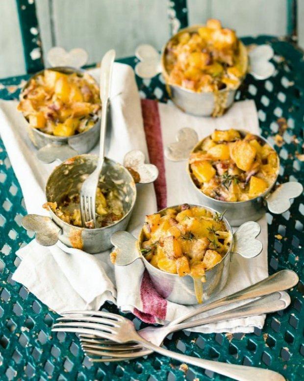 Sýrovo-bramborová hnízda Tartiflette  Foto: