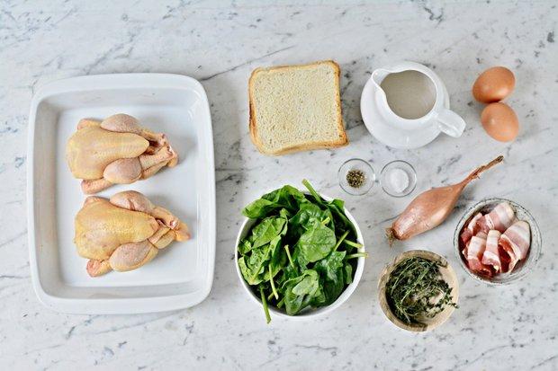 Jarní kuře se špenátovou nádivkou 2 Foto: