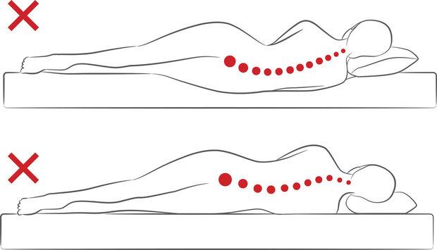 Správná matrace a polštář jsou pro vaše záda zásadní Foto: