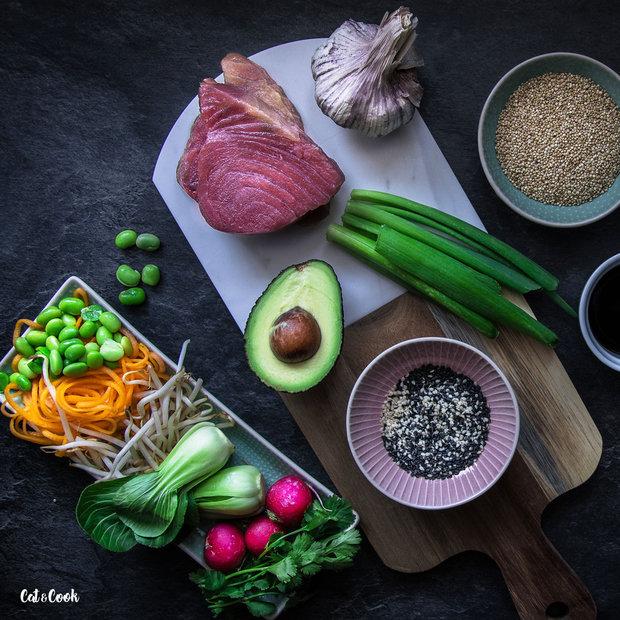 Tuna bowl – grilovaný tuňák se zeleninou 2 Foto: