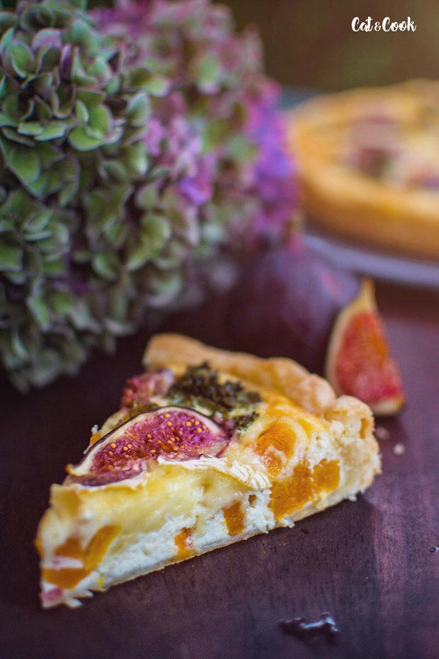 Slaný dýňový koláč s fíky a kadeřávkem 2 Foto: