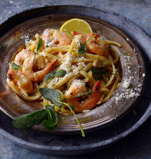 Linguine s krevetami a česnekovým máslem  Foto: