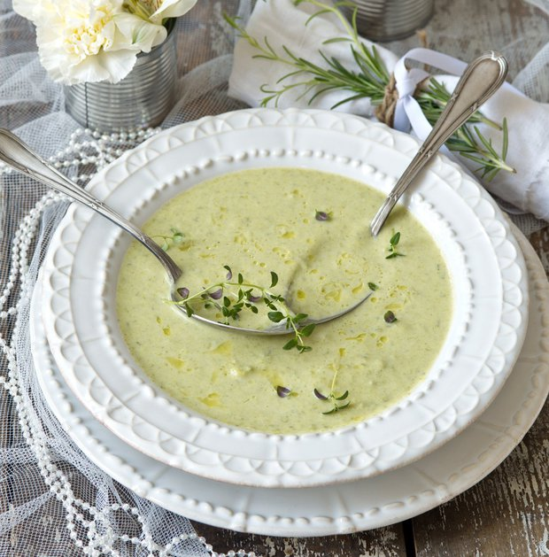 Studená pórková polévka Vichysoisse  Foto: