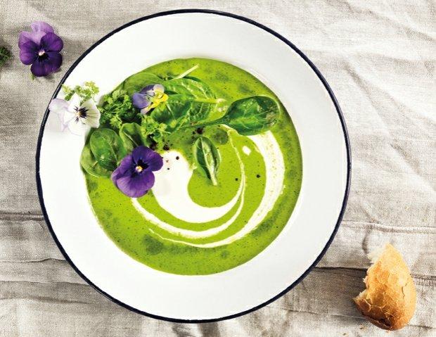 Špenátová polévka s pestem  Foto: