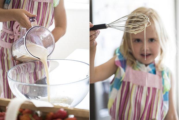 Pohankové palačinky s jahodovou omáčkou  Foto: